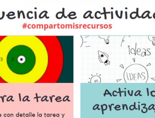 Diseña una unidad didáctica. Secuencia de actividades #compartomisrecursos.