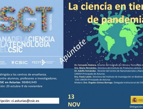 La ciencia en tiempos de pandemia. Una iniciativa del CSIC de Asturias