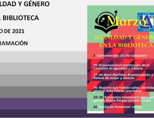 #compartomisrecursos #8demarzo. Igualdad y género en la biblioteca. IES Leopoldo Alas Clarín