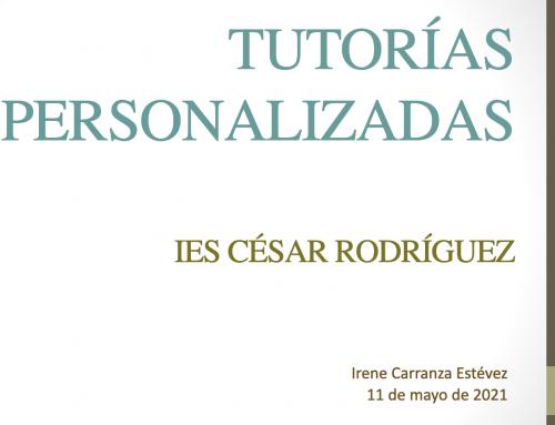 IES César Rodríguez (Grado): Formación externa PFC Tutorías personalizadas