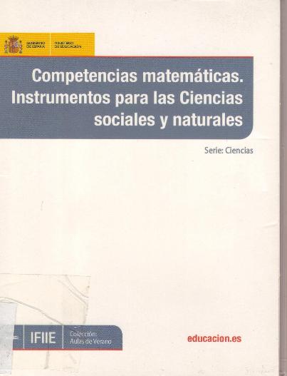 Competencias matemáticas. Instrumentos para las Ciencias sociales y naturales.
