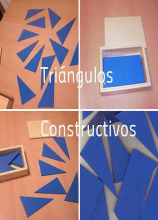 Triángulos constructivos: Materiales Montessori  6-8 años. Área sensorial