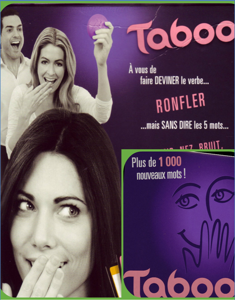 Taboo : le jeu des mots interdits.