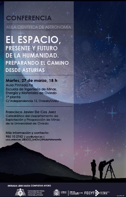 Próximas conferencias de la Universidad de Oviedo del Aula de Astronomía