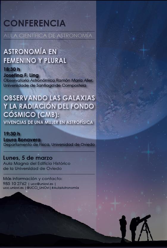 Conferencias de la Universidad de Oviedo sobre mujer y astronomía