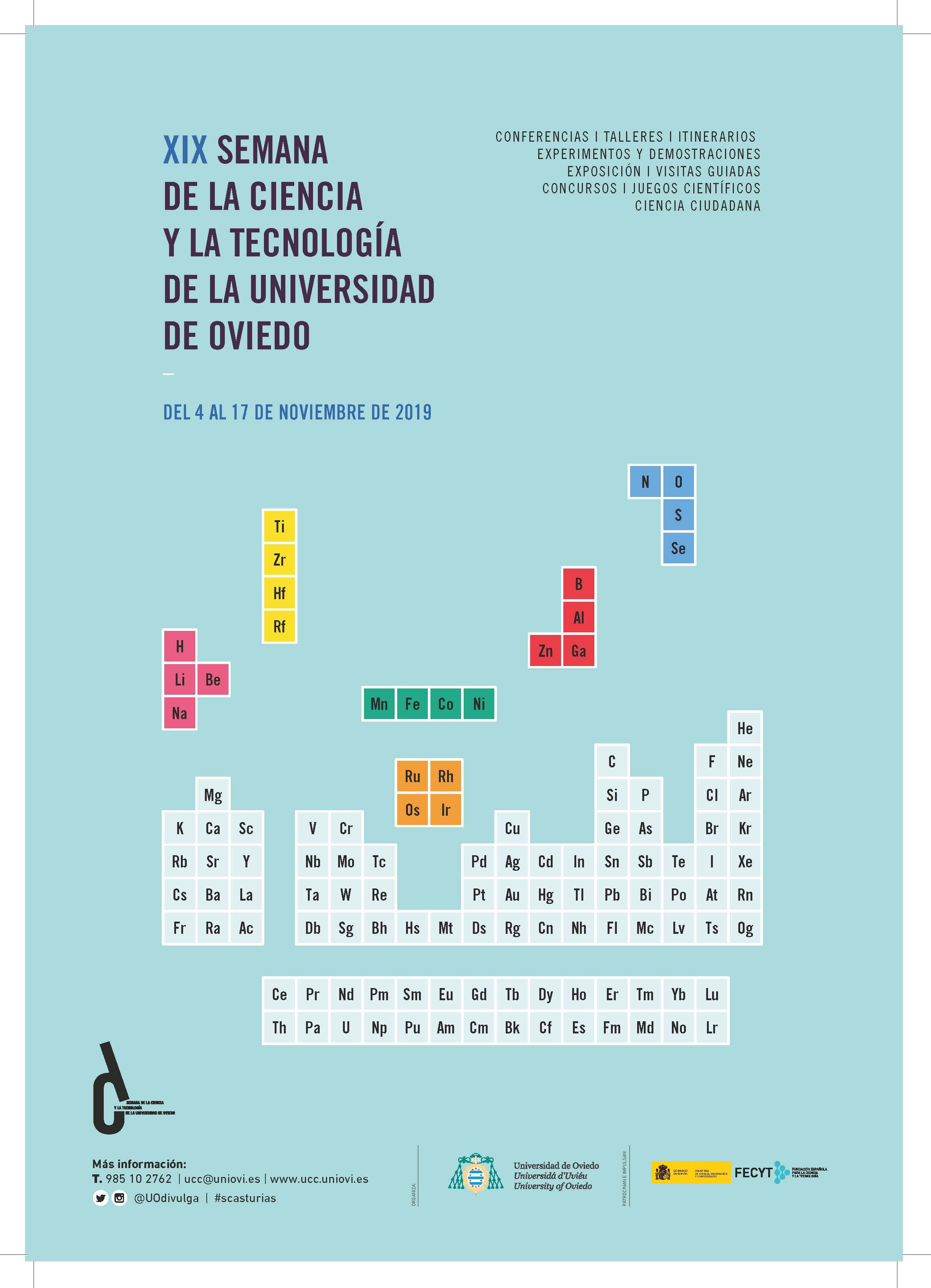 Curso: XIX Semana de la Ciencia y la Tecnología de la Universidad de Oviedo