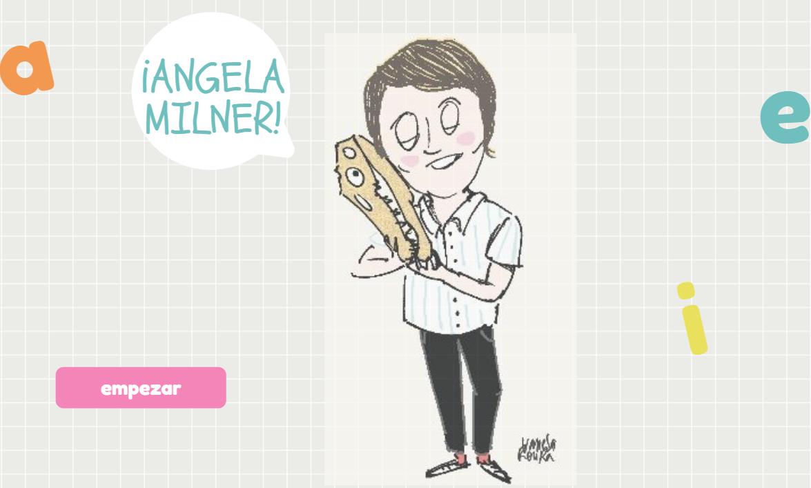#compartomisrecursos. Juego interactivo sobre la Paleontóloga Ángela Milner