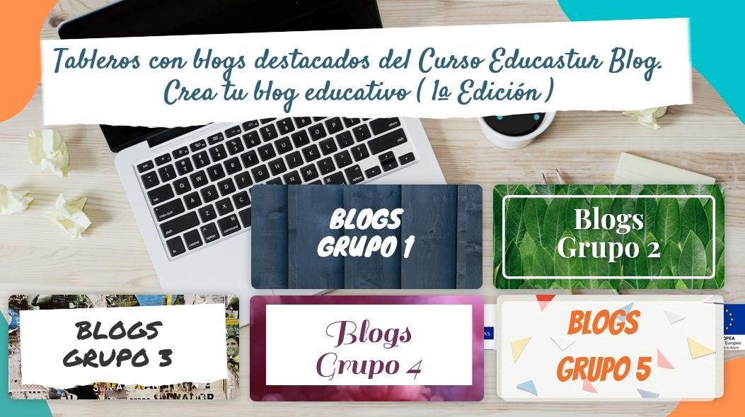 """Blogs destacados de la 1ª edición del Curso """"Educastur Blog. Crea tu blog educativo"""""""