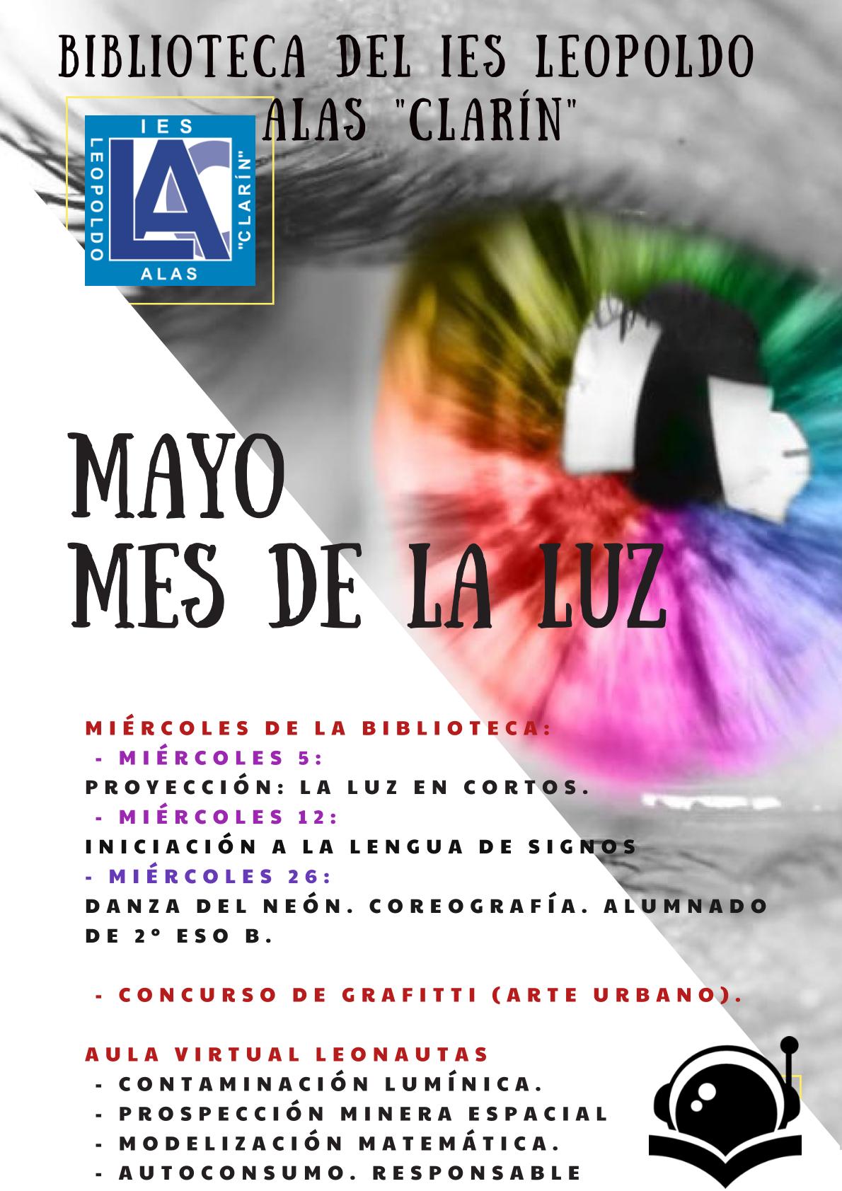 """#compartomisrecursos. Actividad: """" Mayo, mes de la luz """" en el IES Leopoldo Alas Clarín"""
